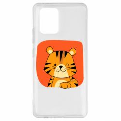 Чехол для Samsung S10 Lite Striped tiger with smile