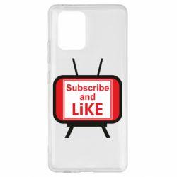 Чохол для Samsung S10 Subscribe and like youtube