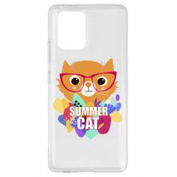 Чехол для Samsung S10 Lite Summer cat