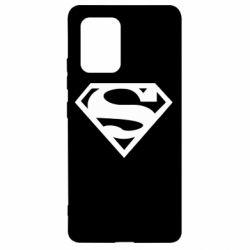 Чехол для Samsung S10 Lite Superman одноцветный