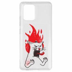 Чохол для Samsung S10 Lite The cat is mad