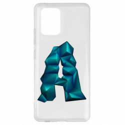 Чехол для Samsung S10 Lite The letter a is cubic