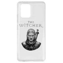 Чехол для Samsung S10 Lite The witcher art black and gray