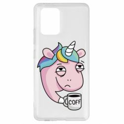 Чохол для Samsung S10 Unicorn and coffee