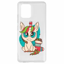 Чехол для Samsung S10 Lite Unicorn Christmas