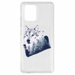 Чехол для Samsung S10 Lite Wolf and forest