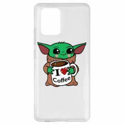 Чехол для Samsung S10 Lite Yoda and a mug with the inscription I love coffee