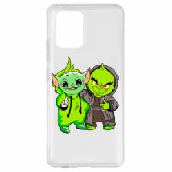 Чехол для Samsung S10 Lite Yoda and Grinch