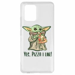 Чехол для Samsung S10 Lite Yoda and pizza