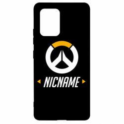 Чехол для Samsung S10 Lite Your Nickname Overwatch
