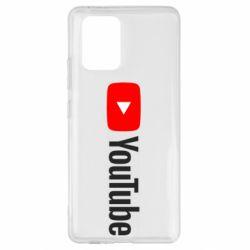 Чехол для Samsung S10 Lite Youtube logotype