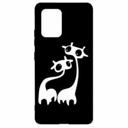 Чехол для Samsung S10 Lite Жирафы