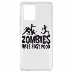 Чохол для Samsung S10 Zombies hate fast food