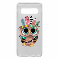 Чохол для Samsung S10 Little owl with feathers