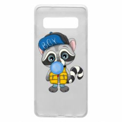 Чехол для Samsung S10 Little raccoon