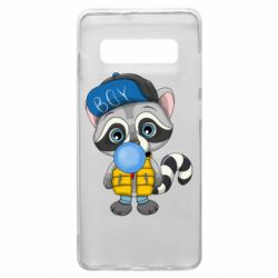 Чехол для Samsung S10+ Little raccoon