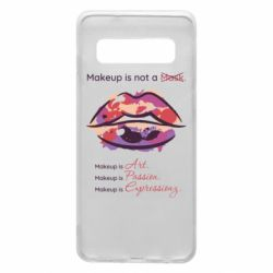 Чехол для Samsung S10 Make Up Is Not A Mask Lips