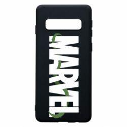 Чехол для Samsung S10 Marvel logo and vine