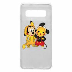 Чехол для Samsung S10 Mickey and Pikachu