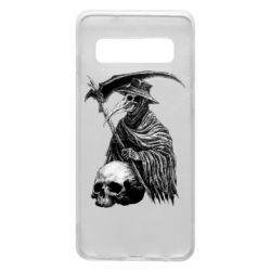 Чехол для Samsung S10 Plague Doctor graphic arts