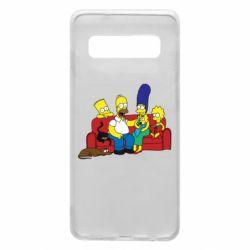 Чехол для Samsung S10 Simpsons At Home