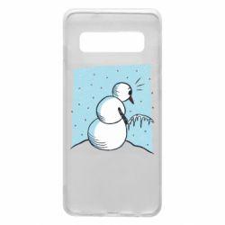 Чохол для Samsung S10 Snowman. It's Cold!