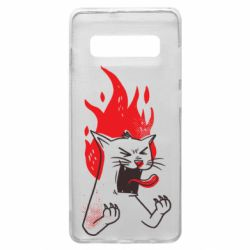 Чохол для Samsung S10+ The cat is mad