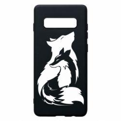 Чехол для Samsung S10+ Wolf And Fox