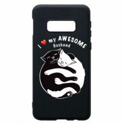 Чехол для Samsung S10e Cats and love