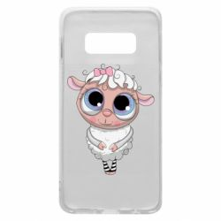 Чехол для Samsung S10e Cute lamb with big eyes