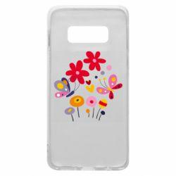 Чехол для Samsung S10e Flowers and Butterflies