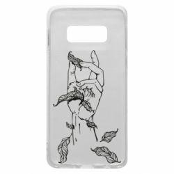 Чохол для Samsung S10e Hand with leafs