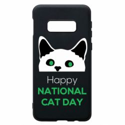 Чехол для Samsung S10e Happy National Cat Day