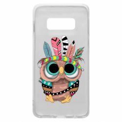 Чохол для Samsung S10e Little owl with feathers