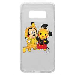 Чехол для Samsung S10e Mickey and Pikachu
