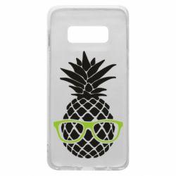 Чехол для Samsung S10e Pineapple with glasses