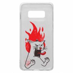 Чохол для Samsung S10e The cat is mad