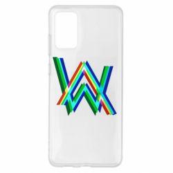 Чохол для Samsung S20+ Alan Walker multicolored logo