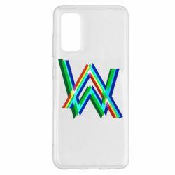 Чохол для Samsung S20 Alan Walker multicolored logo