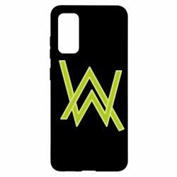 Чехол для Samsung S20 Alan Walker neon logo