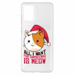 Чехол для Samsung S20+ All i want for christmas is meow