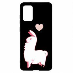 Чохол для Samsung S20+ Alpaca with a heart