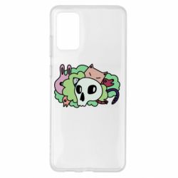 Чехол для Samsung S20+ Animals and skull in the bushes