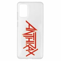 Чохол для Samsung S20+ Anthrax red logo