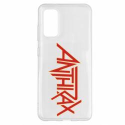 Чохол для Samsung S20 Anthrax red logo