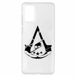 Чехол для Samsung S20+ Assassin's Creed and skull 1