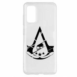 Чехол для Samsung S20 Assassin's Creed and skull 1