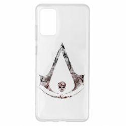 Чехол для Samsung S20+ Assassins Creed and skull