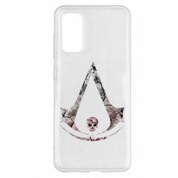 Чехол для Samsung S20 Assassins Creed and skull