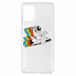 Чохол для Samsung S20+ Astronaut on a rocket with a tape recorder